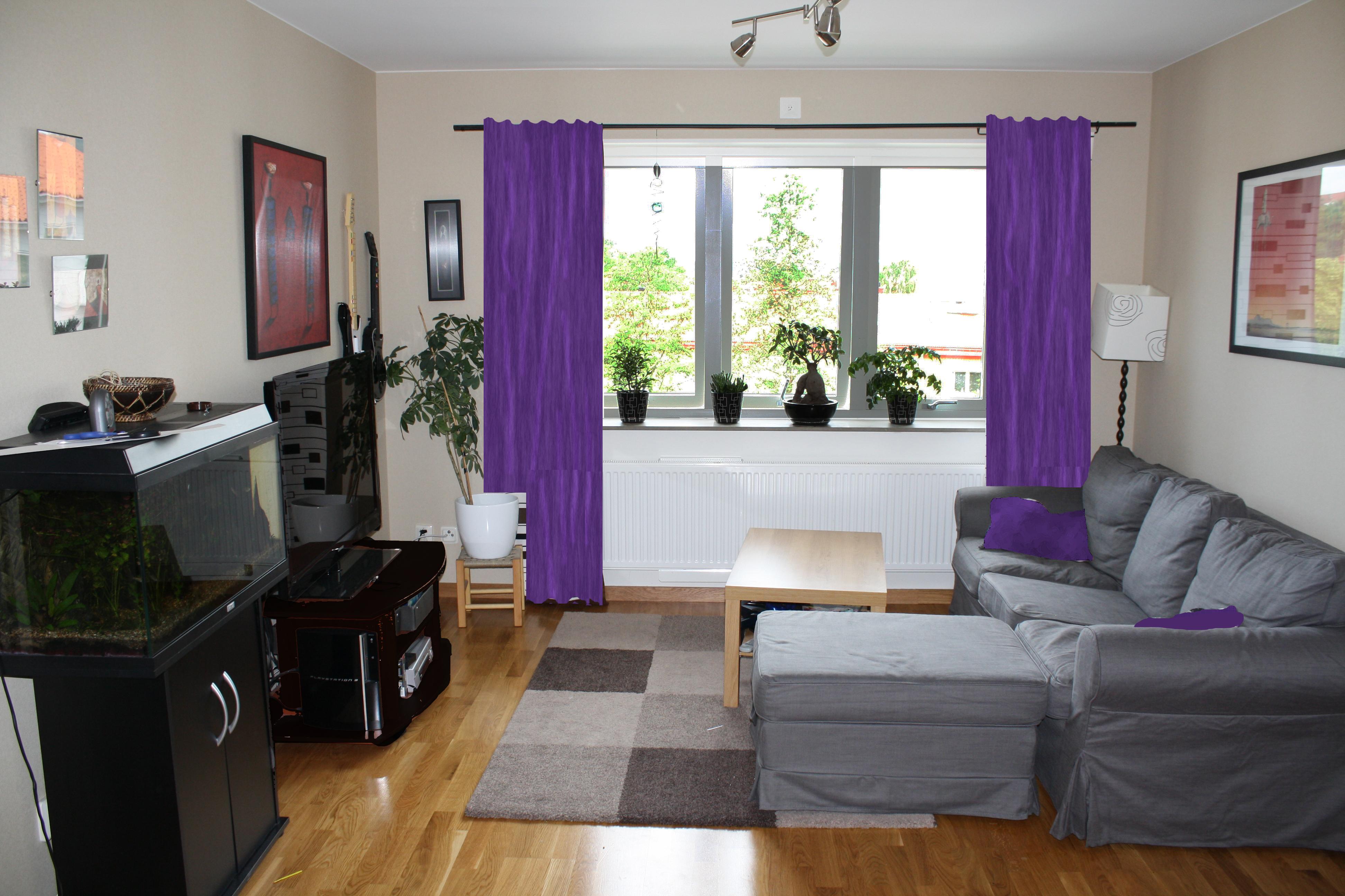 inspiration vardagsrum grå soffa